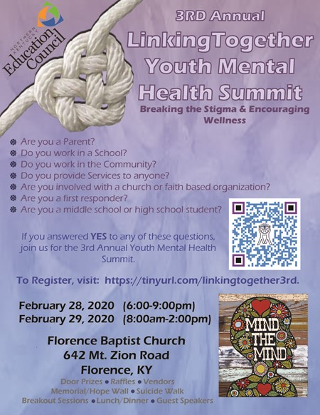 mental health summit flyer